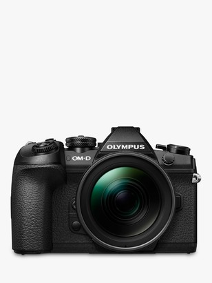 Olympus OM-D E-M1 Mark II Compact System Camera with 12-40mm PRO Lens, 4K UHD, 20.4MP, Wi-Fi, EVF, 3 Vari-angle LCD Touch Screen