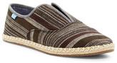 Toms Palmera Black Metallic Stripe Slip-On Sneaker