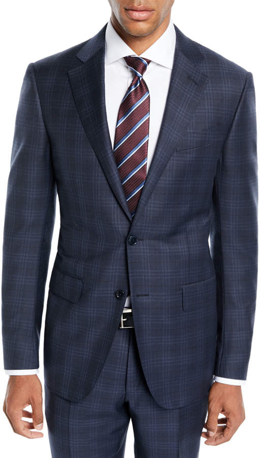 Ermenegildo Zegna Men's Trofeo Wool Plaid Two-Piece Suit
