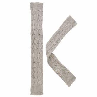 Tiaomao11 Fashion Length 50cm Autumn Winter Spring Fingerless Knitted Gloves Wool Mittens Arm Warmers Long Gloves(light grey)