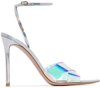 Gianvito Rossi Stark 115mm iridescent PVC sandals