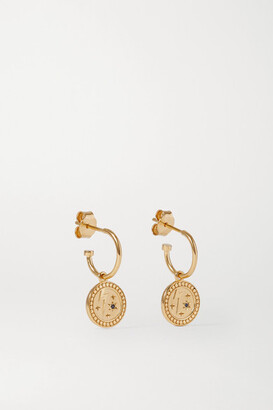 MEADOWLARK Amulet Strength Gold-plated Sapphire Earrings - one size