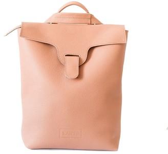 "Convertible Natural Leather Backpack/Handbag ""Lucerne"" Peachy Pink"
