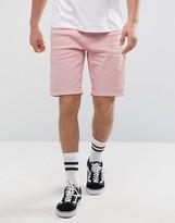 Asos Denim Shorts In Slim Light Pink