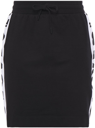 Love Moschino Printed Cotton-blend Fleece Mini Skirt