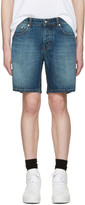 Ami Alexandre Mattiussi Blue Denim Bermuda Shorts
