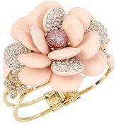 Betsey Johnson Marie Antoinette Pave Rose Bangel Bracelet