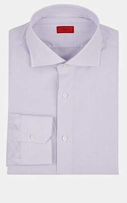 Isaia Men's Grid-Checked Cotton Poplin Dress Shirt - Lt. Purple