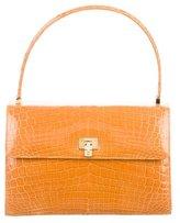 Lambertson Truex Crocodile Top Handle Bag