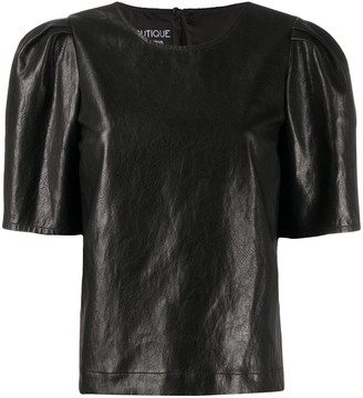 Boutique Moschino leather look T-shirt