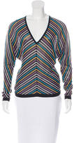 M Missoni Striped Long Sleeve Top