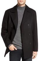 Michael Kors Men's Wool Blend Double Breasted Peacoat