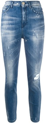 Pinko Distressed Slim Fit Jeans