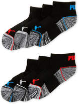 Puma Boys 4-7) 6-Pack Quarter Cut Cushioned Socks
