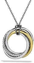 David Yurman Crossover Pendant with Gold on Chain