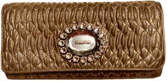 Miu Miu Gold Leather Wallets