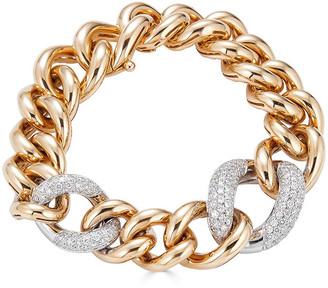 Zydo Luminal 18k Rose Gold Diamond Pave and Chain Bracelet