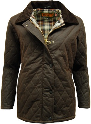 Game Technical Apparel Womens Zara Antique Waxed Cotton Quilted Jacket (XXL