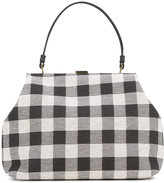 Mansur Gavriel checked tote - women - Cotton/Leather - One Size