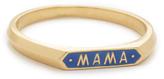Nora Kogan 10k Gold Mama Signet Ring
