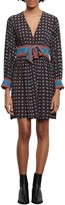 Sandro Cate Mix Print Long Sleeve Dress