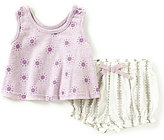 Jessica Simpson Newborn-9 Months Printed Top & Striped Shorts Set