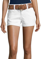 WALLFLOWER Wallflower Belted Denim Shorts-Juniors