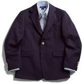 Lord & Taylor Kids BOYS 8-20 Husky Gold-Button Wool-Blend Navy Blazer
