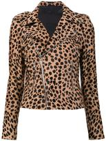 RtA 'Nico' biker jacket - women - Lamb Skin/Polyester/Spandex/Elastane/Calf Hair - M