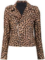 RtA 'Nico' biker jacket - women - Lamb Skin/Polyester/Spandex/Elastane/Calf Hair - S