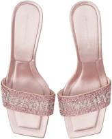 Alexander Wang Jessie Crystal Kitten Heel Sandal