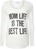 Dorothy Perkins Womens **Mamalicious Maternity Mom Life Print Top- Cream