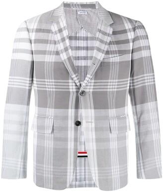 Thom Browne Madras Check Suit Jacket