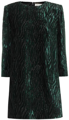 Saint Laurent Lame velvet jacquard minidress
