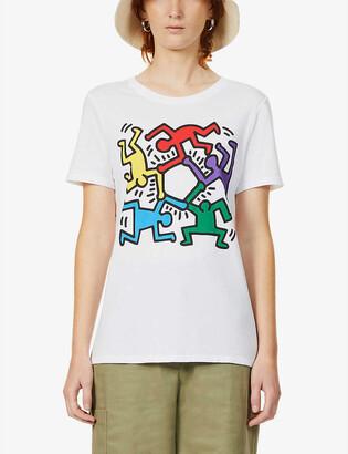 Benetton x Keith Haring intarsia cotton jumper