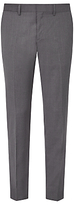 J. Lindeberg Comfort Stretch Wool Slim Suit Trousers, Grey Melange