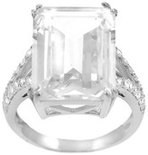 Journee Collection 1 1/3 CT. T.W. Emerald-cut Cubic Zirconia Bridal Basket Set Ring in Sterling Silver - Silver