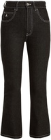 ATTICO Blanca high-rise kick-flare cropped jeans