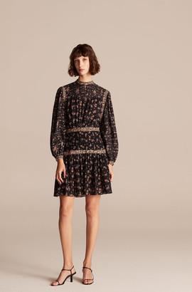 Rebecca Taylor Print Mix Short Dress