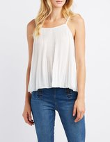 Charlotte Russe Micro Pleated Tank Top