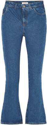 ATTICO Cropped High-rise Flared Jeans