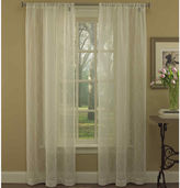 Laura Ashley Audrey Rod-Pocket 2-Pack Sheer Curtain Panels
