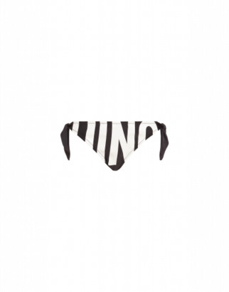 Moschino Maxi Logo Bikini Bottom Woman Black Size 1 It - (4 Us)