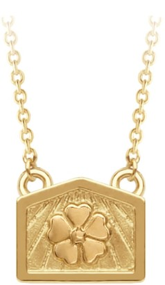 A World Entire Hope & Beauty - Blossom Mini Wish Necklace In 18Ct Yellow Gold