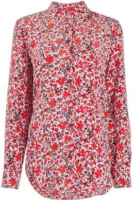 Equipment Long-Sleeve Floral Silk Shirt