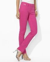 Lauren Ralph Lauren Petites Slim Modern Jeans in Harbor Pink