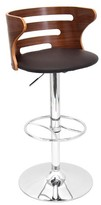 "Lumisource Cosi Wood Top 31"" Barstool Metal/Walnut"