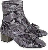 No.21 Grigio Snake Diamante Heel Boots