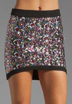 Funktional Prismatic Sequin Mini Skirt
