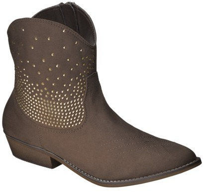 Mossimo Women's Kayde Studded Western Ankle Boot - Brown
